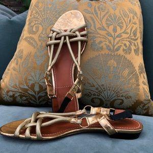 Gold Lanvin Sandals